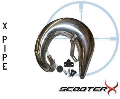 X-PIPE Expansion Chamber High Performance Tuned Exhaust Pipe For Your Scooter